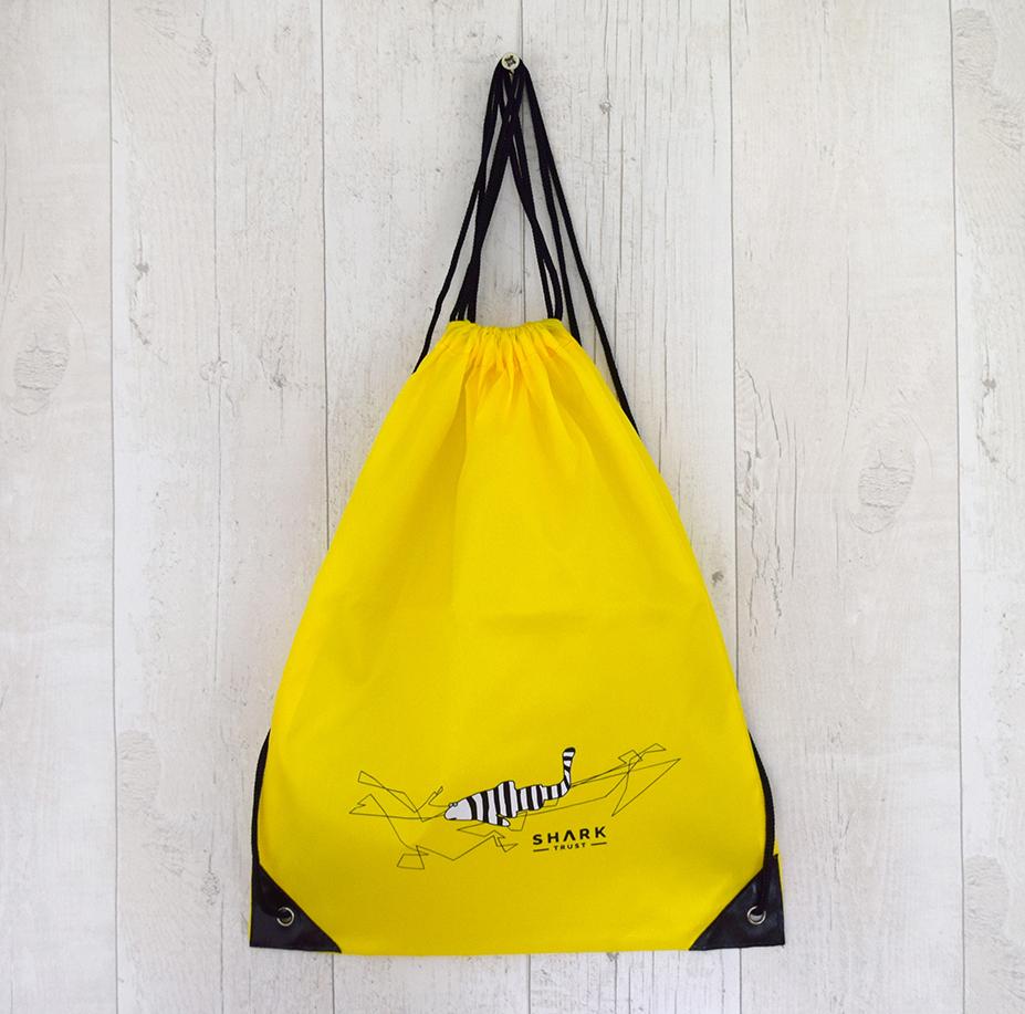 Shark Trust, Shark Gang, Drawstring Bag Yellow