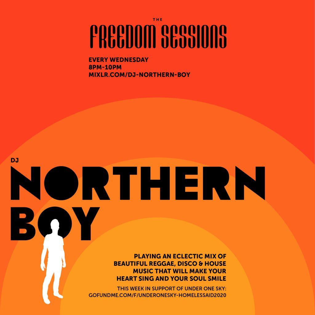 northern, boy, flyer, design